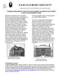 Cass Gilbert Society Newsletter