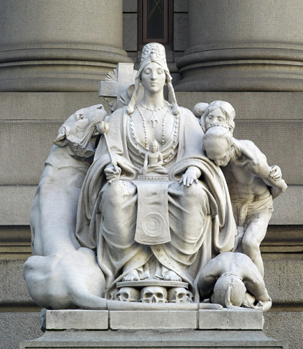 U.S. Custom House, external statue, NYC, courtesy Carol M. Highsmith