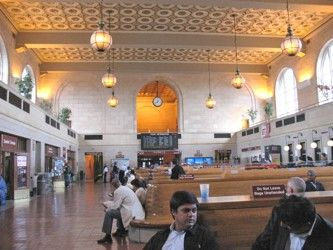 New Haven Railroad Station, Interior view